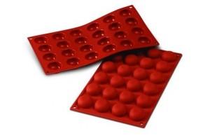 Moule en silicone professionnel Silikomart Silicon Flex 300x175mm 24 pomponnettes 3.4cm