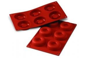 Moule en silicone professionnel Silikomart Silicon Flex 300x175mm 6 savarins 7.2cm