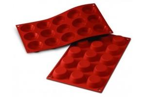 Moule en silicone professionnel Silikomart Silicon Flex 300x175mm 15 tartelettes 5cm
