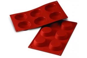 Moule en silicone professionnel Silikomart Silicon Flex 300x175mm 6 tartelettes 7cm