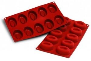 Moule en silicone professionnel Silikomart Silicon Flex 300x175mm 10 savarins ovales