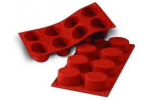 Moule en silicone professionnel Silikomart Silicon Flex 300x175mm 8 formes ovales
