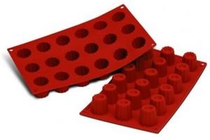 Moule en silicone professionnel Silikomart Silicon Flex 300x175mm 18 mini cannelés