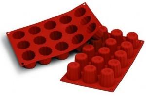 Moule en silicone professionnel Silikomart Silicon Flex 300x175mm 15 mini cannelés