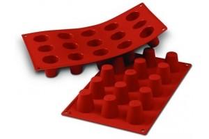 Moule en silicone professionnel Silikomart Silicon Flex 300x175mm 15 babas 3.5cm