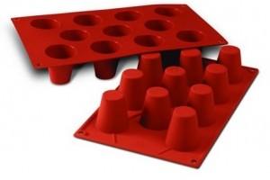 Moule en silicone professionnel Silikomart Silicon Flex 300x175mm 11 babas 4.5cm