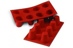 Moule en silicone professionnel Silikomart Silicon Flex 300x175mm 8 babas 5.5cm