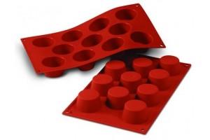 Moule en silicone professionnel Silikomart Silicon Flex 300x175mm 11 mini muffins 5cm