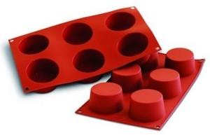 Moule en silicone professionnel Silikomart Silicon Flex 300x175mm 6 muffins 6.8cm