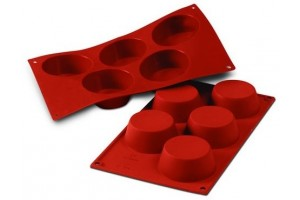 Moule en silicone professionnel Silikomart Silicon Flex 300x175mm 5 muffins 8.1cm