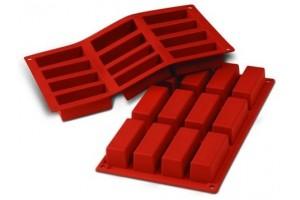 Moule en silicone professionnel Silikomart Silicon Flex 300x175mm 12 mini cakes