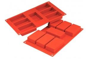 Moule en silicone professionnel Silikomart Silicon Flex 300x175mm 7 cakes