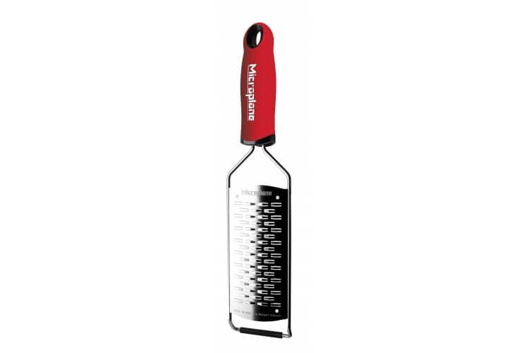 Râpe Microplane Gourmet double tranchant manche rouge