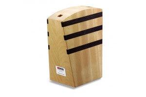 Bloc vide en bois magnétique DICK jusqu'à 6 couteaux