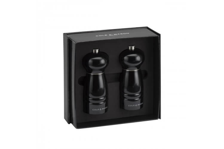 Coffret 2 moulins sel/poivre Windsor noir 120mm Cole & Mason