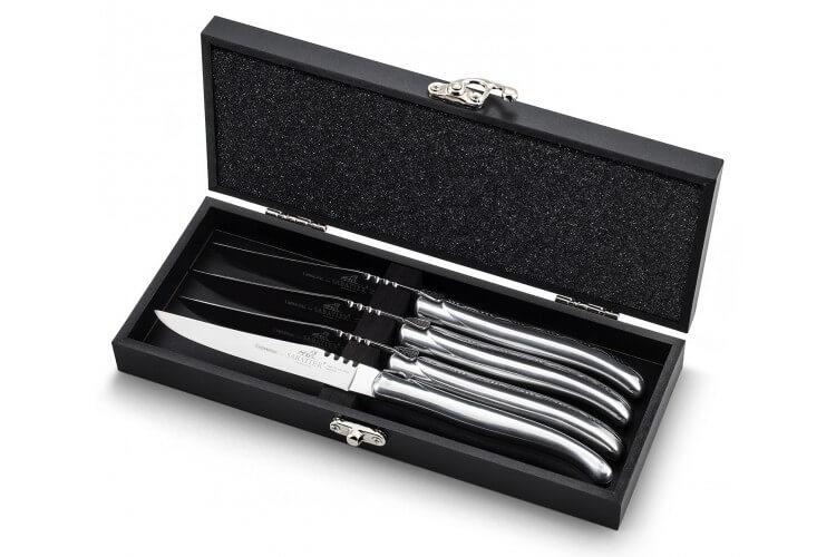 Coffret Cadeau de 4 couteaux à steak tout inox Sabatier International Armagnac