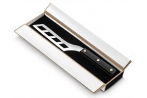 Coffret cadeau couteau à foie gras Sabatier lame ajourée manche noir