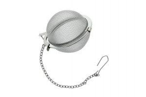 Boule à thé ergonomique acier inox tamis 45mm avec chaînette