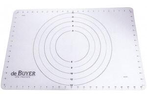 Tapis de préparation/cuisson De Buyer en silicone 60x40 cm - Repère et graduation intégrés