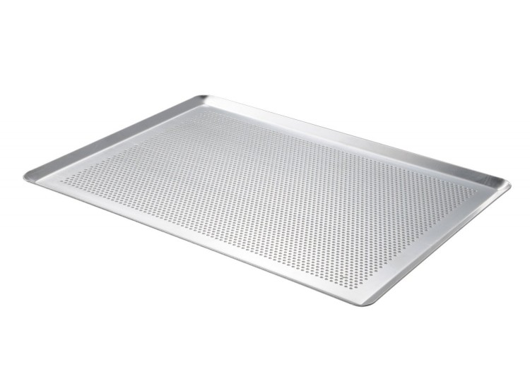 Plaque de cuisson De Buyer aluminium micro perforée 40x30cm - bords pincés