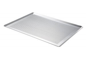 Plaque de cuisson De Buyer aluminium micro perforé 40x30cm - Bords pincés