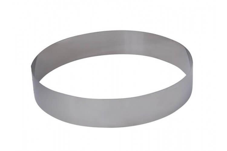 Cercle à pâtisserie De Buyer 20cm tout inox - hauteur 4.5cm