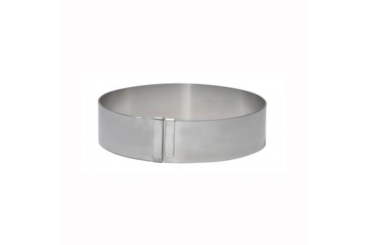 Cercle à entremets extensible inox De Buyer - de 18 à 36cm