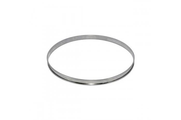 Cercle à tarte De Buyer acier inox bord roulé 24cm - hauteur 2cm