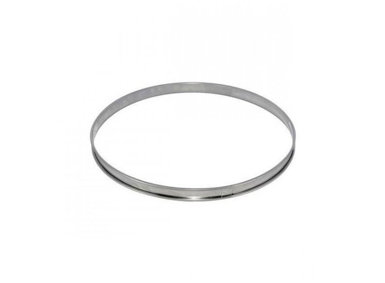 Cercle à tarte De Buyer acier inox bord roulé 28cm - hauteur 2cm