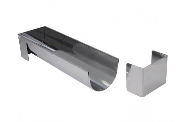 Gouttière ultra-fonctionnelle De Buyer ronde et démontable 30x7.5 cm acier inox