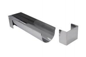 Gouttière multi-usages De Buyer ronde et démontable 30x7.5x6.5 cm acier inox