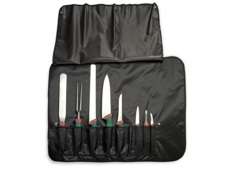 Malette souple de 8 couteaux et ustensiles professionnels SANELLI Premana