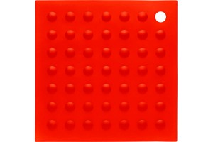 Manique 2 en 1 en silicone rouge 18x18cm