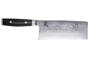 Couteau de chef chinois japonais Yaxell RAN lame 19cm damas 69 couches