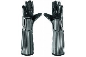 Paire de gants anti-chaleur (250°C) professionnels coton + silicone 48cm