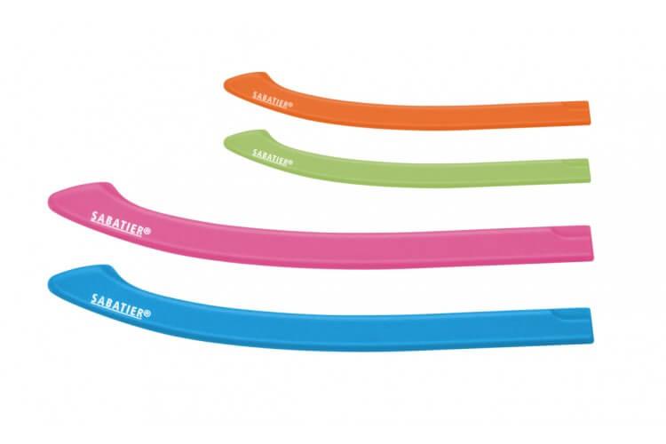 Set de 4 protèges-lame ajustables Sabatier colorés - Adaptés à tous les couteaux