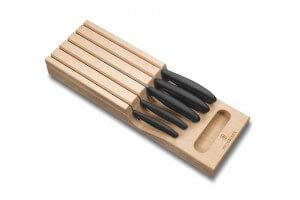 Support de rangement en bois avec 5 couteaux Victorinox SwissClassic