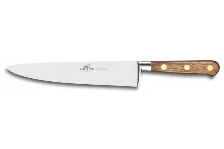 Couteau de chef forgé Sabatier Perigord lame 20cm manche en noyer