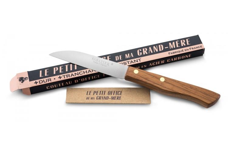 Couteau Le petit office de ma Grand Mère par Sabatier lame carbone 8cm
