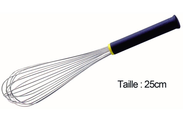 Fouet de cuisine FMC professionnel Matfer 25cm manche Exoglass®