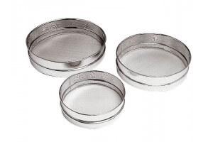 Set de 3 tamis en acier inox - maille inox 0.23mm