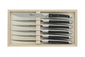 Coffret 6 couteaux de table Avantage Le Thiers Goyon-Chazeau manches en ébène