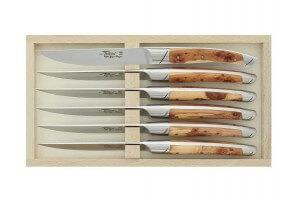 Coffret 6 couteaux de table Avantage Le Thiers Goyon-Chazeau manches genévrier