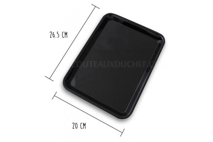 Plateau de présentation professionnel en Altuglas® noir - 20x26.5cm 1/5