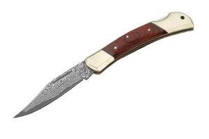 Couteau pliant Herbertz 265711 acier damas 37 couches manche 11cm