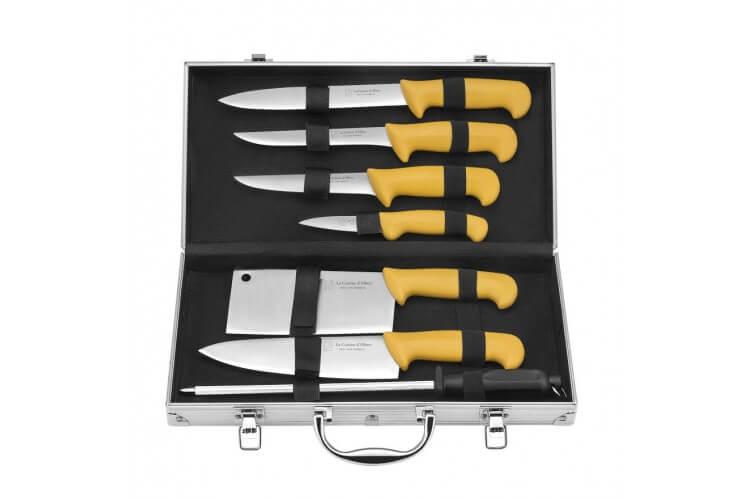 Mallette Albert de Thiers ECO 6 couteaux de cuisine + 1 fusil à aiguiser