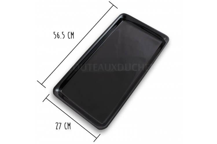 Plateau de présentation professionnel en Altuglas® noir - 56.5x27cm