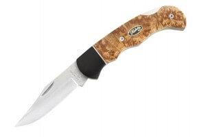Couteau pliant Herbertz 337612 manche bois de racine 12cm
