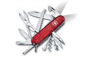 Couteau suisse Victorinox Huntsman Lite rouge translucide 91mm 21 fonctions