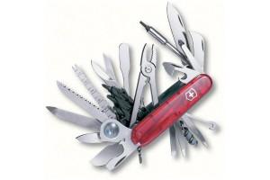 Couteau suisse Victorinox SWISSCHAMP XLT rouge translucide 91mm 49 fonctions